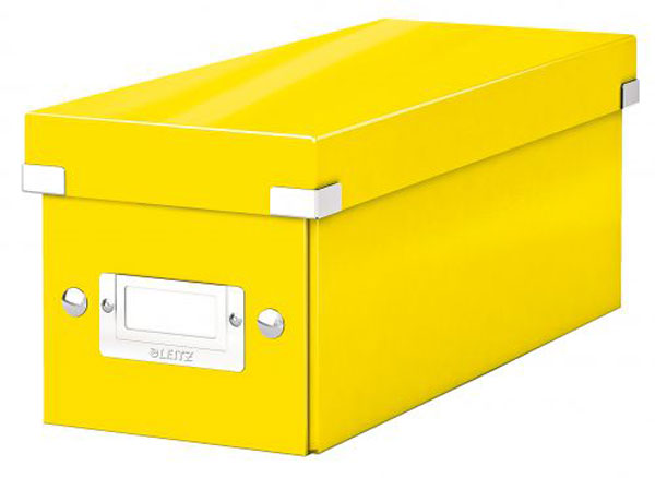 6041-00-16x6 - Pack of 6 - ACCO Leitz Yellow Click & Store CD Storage Box