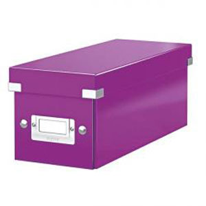 6041-00-62x6 - Pack of 6 - ACCO Leitz Purple Click & Store CD Storage Boxes
