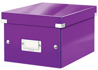 6043-00-62 - Pack of 6 - ACCO Leitz Click & Store A5 Storage Boxes - Purple - Small Size