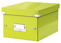 6043-00-64 - Pack of 6 - ACCO Leitz Click & Store A5 Storage Boxes - Metallic Green - Small Size