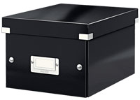 6043-00-95 - Pack of 6 - ACCO Leitz Click & Store A5 Storage Boxes - Black - Small Size