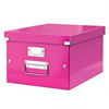 6044-00-23 - Esselte Leitz Metallic Pink Click & Store A4 Storage Box - Pack of 6