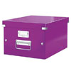 6044-00-62 - ACCO Leitz Click & Store A4 Storage Boxes - Purple - Medium Size