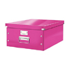 6045-00-23 - Pack of 6 - ACCO Leitz Click & Store A3 Storage Boxes - Metallic Pink - Large Size