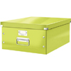 6045-00-64 - Pack of 6 - ACCO Leitz Click & Store A3 Storage Boxes - Metallic Green - Large Size