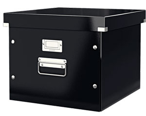 6046-00-95 - ACCO Leitz Black Click & Store Suspension File Box - Pack of 6