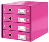 6049-00-23 - Esselte Leitz Metallic Pink Click & Store 4 Drawer Unit