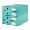 6049-00-51 - Esselte Leitz Ice Blue Click & Store 4 Drawer Unit