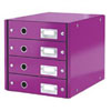 6049-00-62 - Esselte Leitz Purple Click & Store 4 Drawer Unit