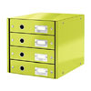 6049-00-64 - Esselte Leitz Metallic Green Click & Store 4 Drawer Unit