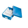 6057-00-36 - Pack of 6 - ACCO Leitz Click & Store A5 Organiser Boxes - Metallic Blue - Small Size