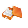 6057-00-44 - Pack of 6 - ACCO Leitz Click & Store A5 Organiser Boxes - Metallic Orange - Small Size