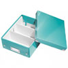 6057-00-51 - Pack of 6 - ACCO Leitz Click & Store A5 Organiser Boxes - Ice Blue - Small Size