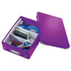 6057-00-62 - Pack of 6 - ACCO Leitz Click & Store A5 Organiser Boxes - Purple - Small Size