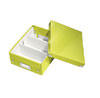 6057-00-64 - Pack of 6 - ACCO Leitz Click & Store A5 Organiser Boxes - Metallic Green - Small Size