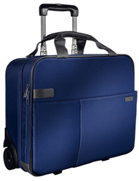 60590069 - Leitz Complete Smart Traveller Carry-On Trolley, cabin size ideal for mobile devices - Titan Blue
