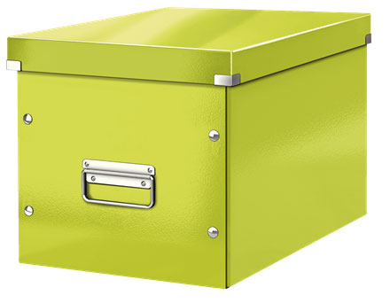 61080064 - ACCO Leitz Box Click & Store Cube Large, Green Storage Box