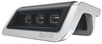 6207-00-94 - Leitz Style 3-port USB Power Charger - Satin Black