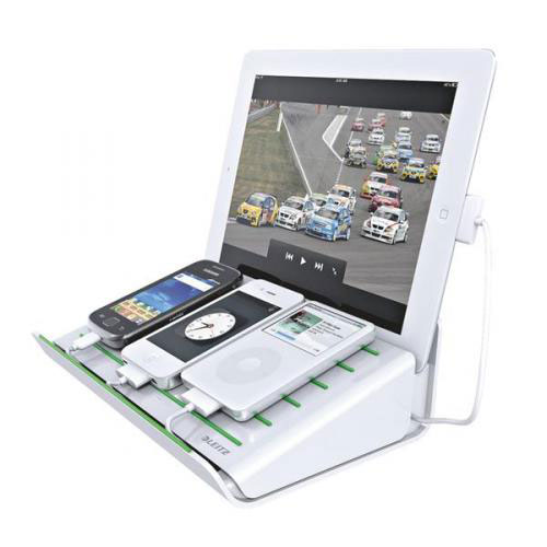 62891001 - Leitz Complete Multicharger XL for 1 tablet and 3 smartphones - White