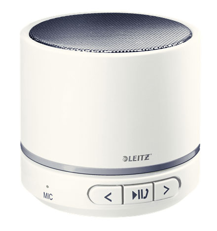 63581001 - Leitz WOW Mini Conference Bluetooth Speaker - White