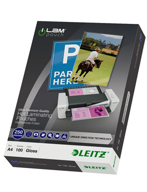 74840000 - Leitz iLAM UDT Hot Laminating Pouches A4, 250 microns - Pack of 100 laminates