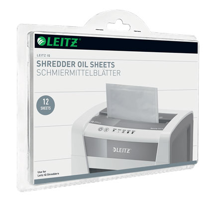 80070000 - Leitz IQ Oil Sheets - For trouble free shredding