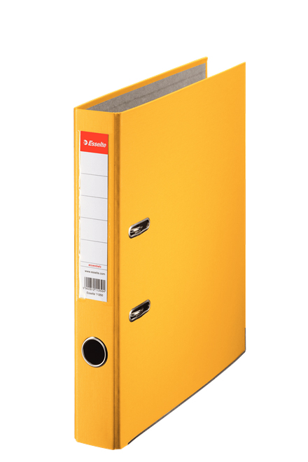 81191 - Esselte Essentials Lever Arch File - Box of 25, Yellow - A4 Format, 50mm Spine width