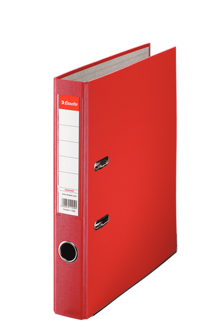 81193 - Esselte Essentials Lever Arch File - Box of 25, Red - A4 Format, 50mm Spine width