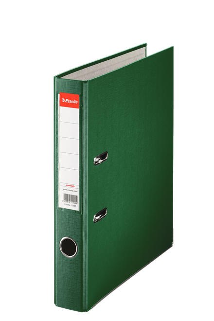 81196X10 - Esselte Essentials Lever Arch File - Box of 10, Green - A4 Format, 50mm Spine width