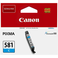 2103C001 - Genuine Canon CLI-581C Cyan Ink Tank - Standard Cartridge - 5.6ml
