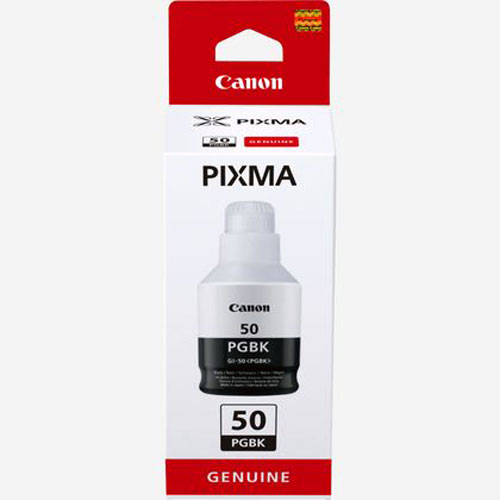 3386C001 - Genuine Canon GI-50 Black - Bottle of black pigment ink, Canon PIXMA G7050, G6050, G5050, GM4050, GM