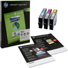 F6U78AE - HP 935XL Original High Yield Ink Cartridge & Paper Kit - Cyan, Magenta, Yellow