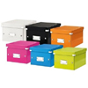 6043-00-64 - Esselte Leitz Metallic Green Click & Store A5 Storage Box  - Pack of 6