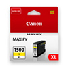 9195B001 - Genuine Canon PGI-1500XL Y Yellow Ink Tank