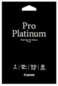 "PT1014X6 - Canon PT-101 4x6"" Photo Paper Pro Platinum, Pack of 20 Sheets, 300g/m2 (10 X 15 cm)"