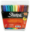 S0811070 - Sharpie Fine Assorted Permanent Markers. Blister Pack of 12