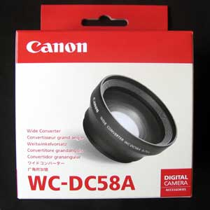 WCDC58A - Canon WC-DC58A Wide Convertor Lens for Powershot S2