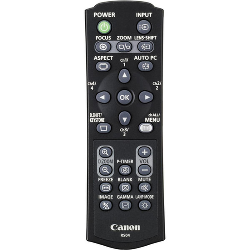 4970B001 - Canon RS-RC04 Remote Control for WUX 6000, WUX 5000 & WUX 4000 Projectors