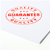 Store policies image depicting quality service stamp
